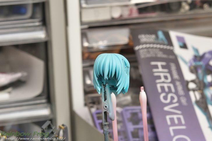 フレームアームズ・ガール フレズヴェルク 髪の毛塗装
