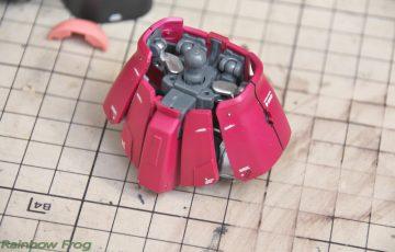 MG シャア専用ザク 2.0 スカートの改修