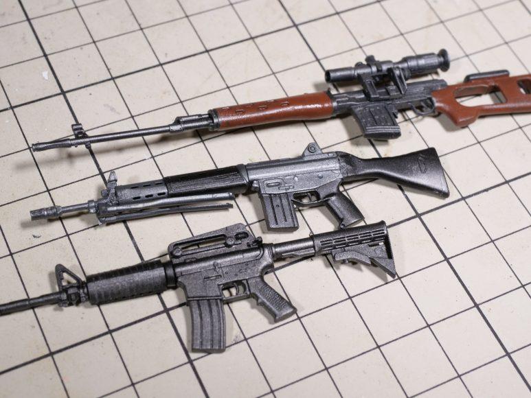 89式小銃、SVD&PSO-1、M4A1